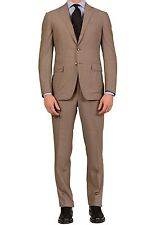 Sartoria PARTENOPEA Hand Made Solid Gray Wool Super 130's Suit NEW