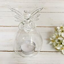 Glass Angel Tea Light Candle Holder - Memory Table, Funeral