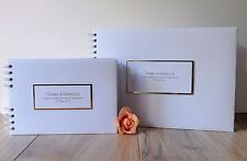 Personalised Golden Anniversary Guest Book And Album,Simple Design,Boxed
