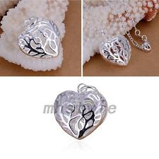 Silver Plated Hollow Out Heart Pendant Fashion Jewelry Accessory Wedding Party