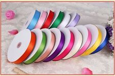 2016 POPULAR 25/50yards 3mm-38mm double side satin ribbon craft/weeding/party