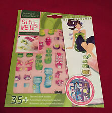 STYLE ME UP SKETCH BOOK 35+ EMBELLISHMENT FASHION STICKERS - GIRLS PARTY FILLERS