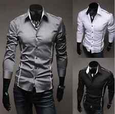 2016 New Fashion Men's Casual Shirt Long Sleeve Dress Shirts Slim Design