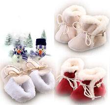 Unisex Kids Boys Girls Newborn Infant Bowknot Solid Warm Boots Shoes Cold Winter