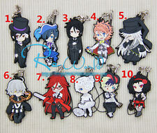 T109 Hot Japan anime Black Butler Rubber Keychain Key Ring Rare cosplay