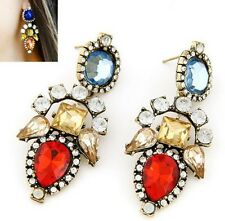1 Pair Elegant Crystal Rhinestone Ear Stud Women Lady Girls Earrings New Fashion