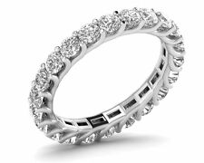 2.25carat Round Brilliant Cut Diamond Full Eternity Wedding Ring in 950 Platinum