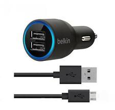 Belkin 2-Port Car Charger & Micro-USB Cable For Samsung HTC SONY & LG