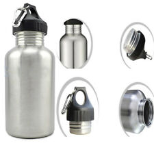 350/750/1000/2000ml Cycling Sports Stainless Steel Wide Mouth Water Drink Bottle