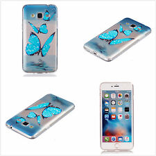 New Blue Butterfly Clear Soft TPU Gel Rubber Skin Cover Case For Various Phones