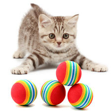 Cute Cat Toys Small Ball Rainbow Toy Ball Teddy Small Dog Pets Toys Cat Supplies