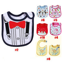 Newborn Baby Boy Girl Bibs Waterproof Saliva Towel Burp Cloth Feeding Babadores