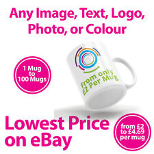 Promotional Mug / Cup - Any Image, Text or Logo - Personalised Mugs - Printed