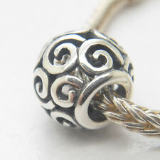 Authentic Genuine S925 Silver flower europen charm bead