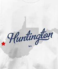 Huntington, West Virginia WV MAP Souvenir T Shirt All Sizes & Colors