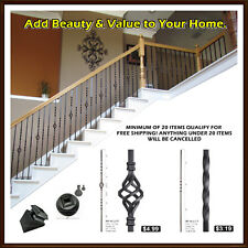Iron balusters for stair railing and balconies - stair spindles - staircase