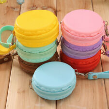 Women Cute Purse Macaron Silicone Waterproof Wallet Pouch Coin Bag lovely gift F