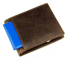 Vintage Men's Genuine Leather Wallet Bifold Driving Licence Card Clutch Purse