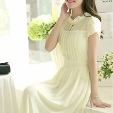 Elegant Summer womens chiffon  dress Bohemia sexy  Sweet Party Long Beach Skirt