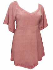 PLUS SIZE eaonplus ROSE  Medieval Embroidered Blouse Tunic Top Szs 18/20 - 30/32