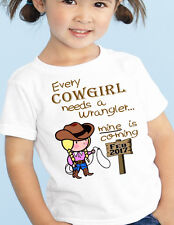 """BABY ANNOUNCEMENT Tee Big SISTER """"Cowgirl, Wrangler"""" T-Shirt Maternity Pregnant"""