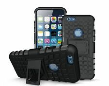 iPhone 6/6S Phone Case & Stand, With Screen Guard & Cloth-Rugged Shockproof Look