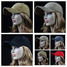 Men's Baseball Cotton Cap Corduroy Caps Plain Curved Bill Solid Hat Unisex Hats