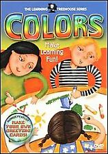 The Learning Treehouse Series DVD COLORS FUN EDUCATIONAL CHILDRENS BRAND NEW