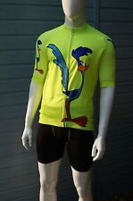 SALE luminous yellow cycling cycle jersey top shirt in Roadrunner design S-4XL