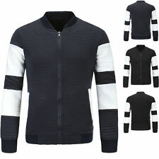 Men Coat Zipper Slim Outwear Casual Cardigan Short Jackets Tops