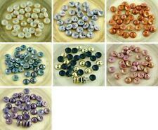 30pcs Piggy Beads Czech Glass Two Hole Beads 4mm x 8mm