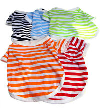 Dog Summer Various Small Dog Cat Pet Clothes Striped Vest T Shirt Apparel