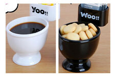Funny Toilet Cup with Spoon/lid WC.Cup Plastic Coffee Mug Funny Gifts