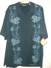 NWT size L !00% silk  HAWAIIAN SHIRT by Paradise Collections JUNGLE FLORAL PRINT