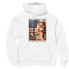 Pullover Hooded Western Sweatshirt Country Finer Cowgirl Crack Dawn Sexy