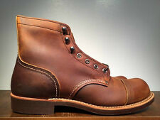 RED WING BOOTS IRON RANGER COPPER ROUGH & TOUGH LEATHER 8085 MADE IN THE USA
