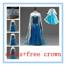 Kids Girls Dresses  Elsa Frozen dress costume Princess Anna party dresses* 2-8Y