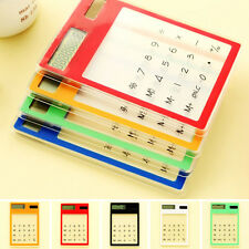 Practical Solar Touch Screen LCD 8 Digit Electronic Transparent Calculator