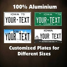 Iowa State Tag Custom Auto OR Motorcycle Personalized License Plates Novelty