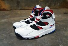 REEBOK PUMP SHAQ ATTAQ IV WHITE / BLACK  M45380 HIGH-TOP LEATHER RETRO BASKET