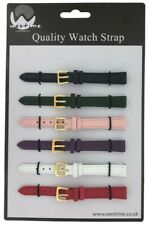 6 x Wholesale Job Lot Extra long Mixed Colour Leather watch straps 10mm to 22mm