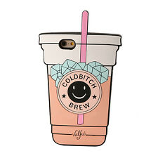 3D Soft Silicone Coffee Cup Phone Case Back Cover For iPhone 5S 6 7 Plus