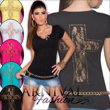 NEW SEXY LADIES CASUAL V NECK TOPS XS S M L WOMENS HOT DESIGNER SHIRTS 6 8 10 12