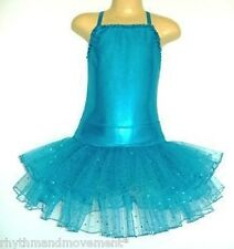 Dance Costume Dress Up Aqua Leotard and Tulle Skirt ONE ONLY SIZE 6