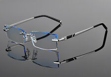 New Fashion Rimless Cutting Edge Reading Glasses tinted Lens Reader +1.00 ~+3.50