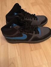 Men's Nike Court Force Hi-Top Trainers, Grey, Black And Blue, Size 8