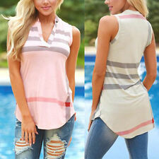 Sexy Womens Summer Vest Tops Sleeveless Shirts Blouse Casual Tank Top T-Shirt