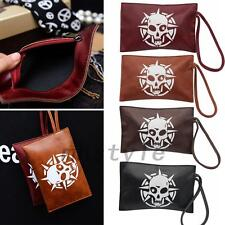Punk Skull PU Leather Cash Coin Mobile Phone Bag Case Wallet Purse Accessories