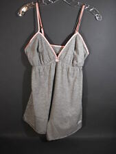 Peace Love World Pajamas I Am Love Gray Dreamy Onesie Nighty S M NWT
