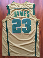 Cleveland Caveliers Lebron James IRISH High School GOLD Sewn/Stitched Jersey NWT